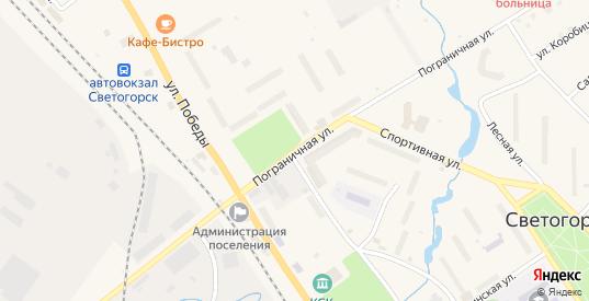 Пограничная улица в Светогорске с номерами домов на карте. Спутник и схема онлайн