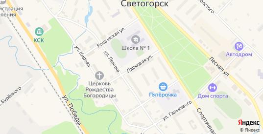 Парковая улица в Светогорске с номерами домов на карте. Спутник и схема онлайн