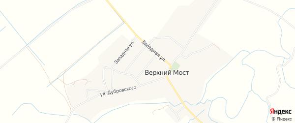 Карта деревни Верхнего Моста в Псковской области с улицами и номерами домов