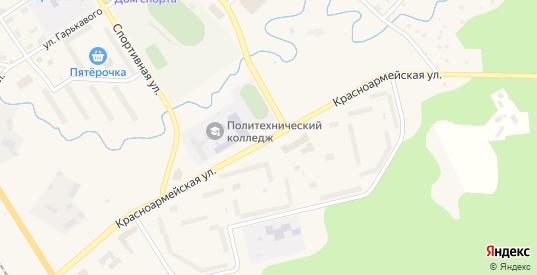 Красноармейская улица в Светогорске с номерами домов на карте. Спутник и схема онлайн