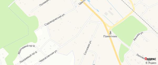 Черкасовская улица на карте поселка Черкасово Ленинградской области с номерами домов