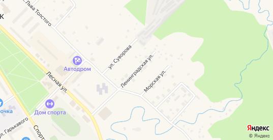 Ленинградская улица в Светогорске с номерами домов на карте. Спутник и схема онлайн