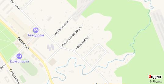 Морская улица в Светогорске с номерами домов на карте. Спутник и схема онлайн