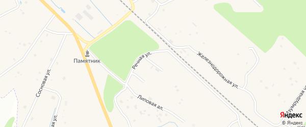 Кипрейная улица на карте Волочаевской территории Ленинградской области с номерами домов