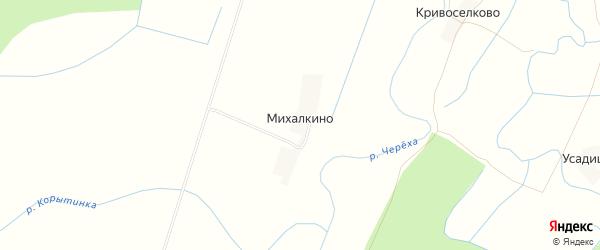 Карта деревни Михалкино в Псковской области с улицами и номерами домов