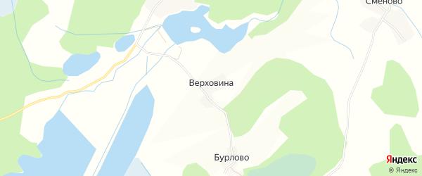 Карта деревни Верховины в Псковской области с улицами и номерами домов