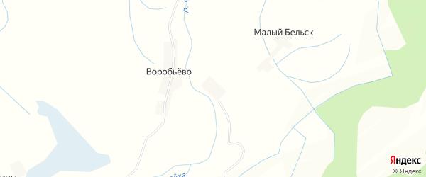 Карта деревни Горяче-Быстро в Псковской области с улицами и номерами домов