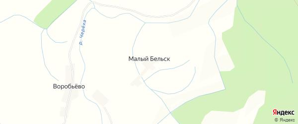 Карта деревни Малого Бельска в Псковской области с улицами и номерами домов