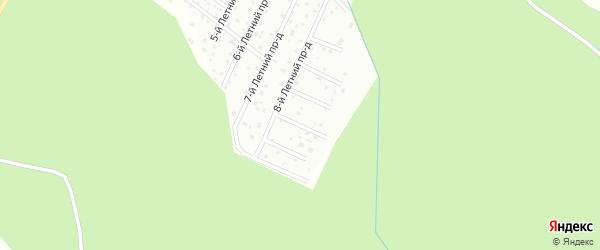 4-й Лесной проезд на карте Линдуловская территории Ленинградской области с номерами домов