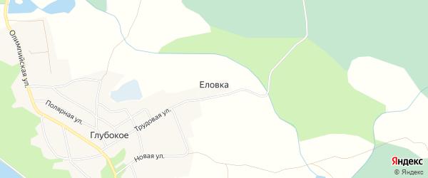 Карта деревни Еловки в Псковской области с улицами и номерами домов