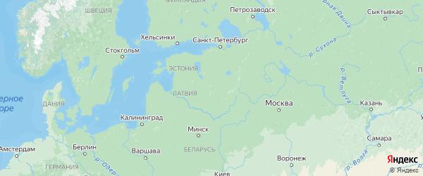 Карта Псковской области с городами и районами