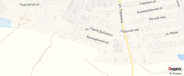 Молодежная улица на карте Новоржева с номерами домов