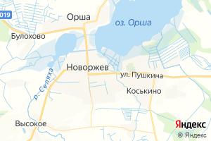Карта г. Новоржев Псковская область