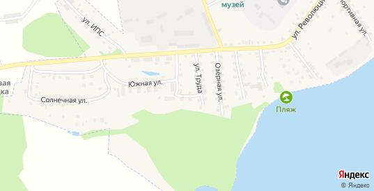 Южный переулок в Пустошке с номерами домов на карте. Спутник и схема онлайн