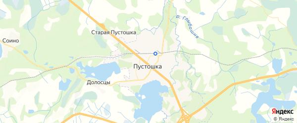 Карта Пустошки с районами, улицами и номерами домов