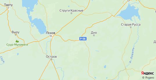 Карта Порховского района Псковской области с городами и населенными пунктами