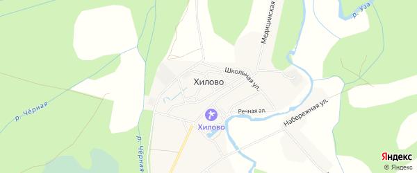 Карта деревни Хилово в Псковской области с улицами и номерами домов