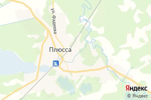 Карта пос. Плюсса Псковская область