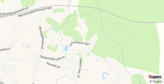 Сосновый переулок в Пустошке с номерами домов на карте. Спутник и схема онлайн