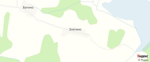 Карта деревни Злятино в Псковской области с улицами и номерами домов