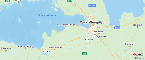 Карта Ломоносовского района Ленинградской области с городами и населенными пунктами