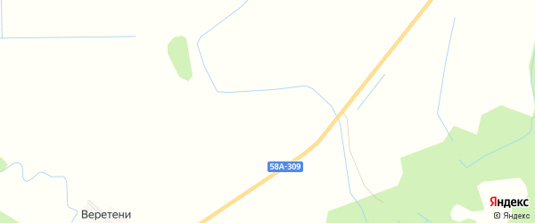 Карта деревни Мельницы в Псковской области с улицами и номерами домов