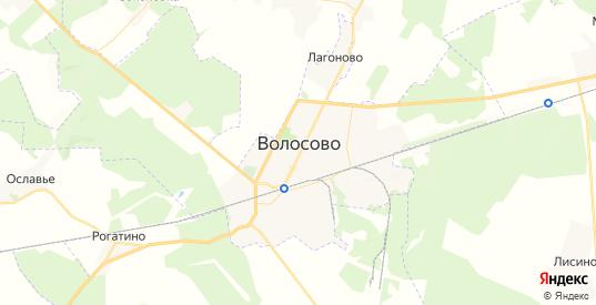 Карта Волосово с улицами и домами подробная. Показать со спутника номера домов онлайн