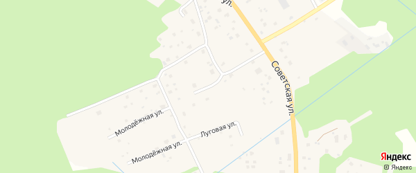 Сосновая улица на карте поселка Красносельского Ленинградской области с номерами домов