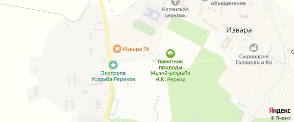 Улица ЛПХ на карте деревни Извары Ленинградской области с номерами домов