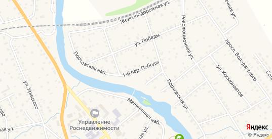 Победы 1-й переулок в Порхове с номерами домов на карте. Спутник и схема онлайн
