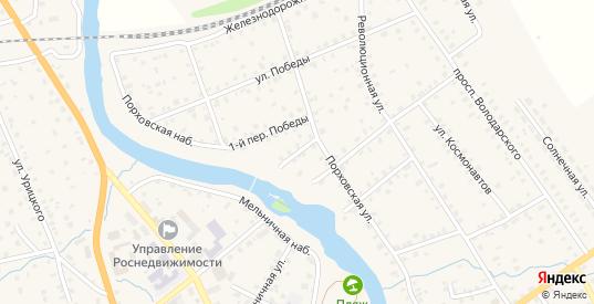 Победы 2-й переулок в Порхове с номерами домов на карте. Спутник и схема онлайн