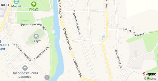 Первомайский 3-й переулок в Порхове с номерами домов на карте. Спутник и схема онлайн