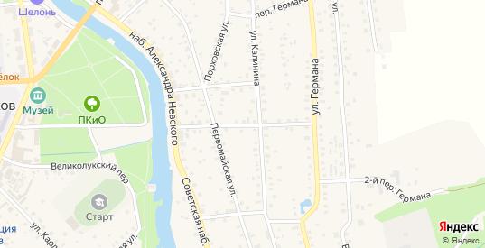 Первомайский 2-й переулок в Порхове с номерами домов на карте. Спутник и схема онлайн