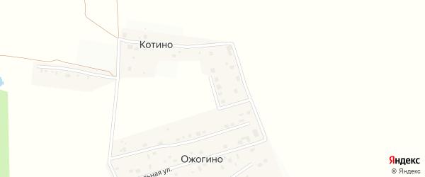 Северная улица на карте деревни Ожогино Ленинградской области с номерами домов