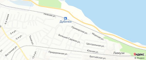 Территория СНТ Вектор на карте Ломоносовского района Ленинградской области с номерами домов