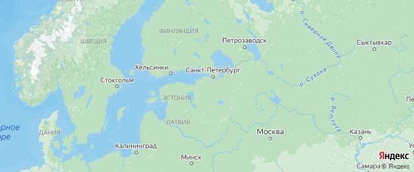 Карта Ленинградской области с городами и районами