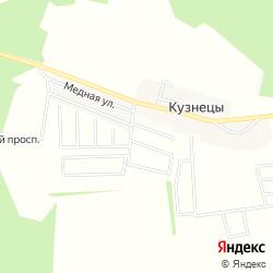 Участки в коттеджном посёлке «Цветочное» вблизи деревни Кузнецы  на карте