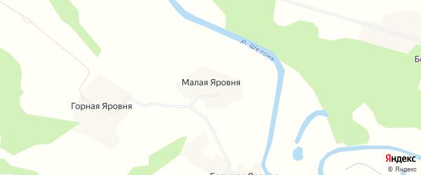 Карта деревни Малой Радунки в Псковской области с улицами и номерами домов