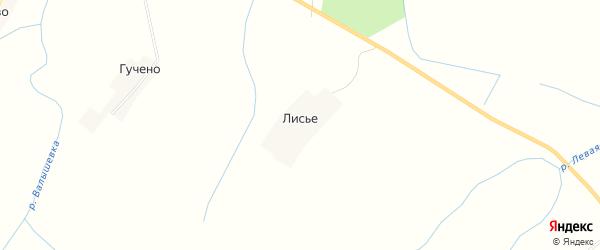 Карта деревни Лисьего в Псковской области с улицами и номерами домов