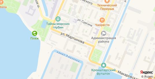 Улица Мартынова в Кронштадте с номерами домов на карте. Спутник и схема онлайн