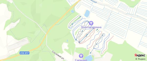 Территория массив Снегиревка ДНП Сосново на карте Приозерского района Ленинградской области с номерами домов