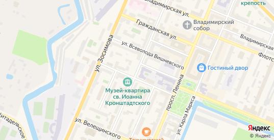Посадская улица в Кронштадте с номерами домов на карте. Спутник и схема онлайн