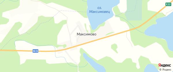 Карта деревни Максимово в Псковской области с улицами и номерами домов