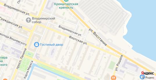 Флотская улица в Кронштадте с номерами домов на карте. Спутник и схема онлайн