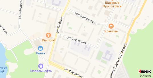 Улица Скуридина в Ломоносове с номерами домов на карте. Спутник и схема онлайн
