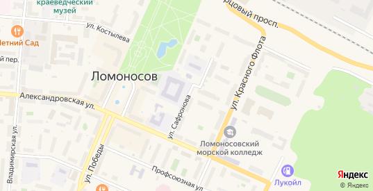 Улица Сафронова в Ломоносове с номерами домов на карте. Спутник и схема онлайн