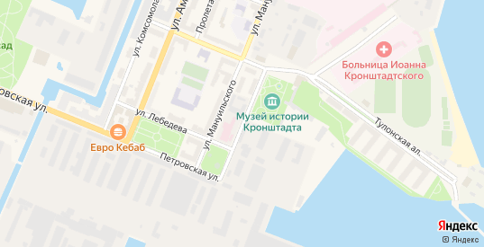 Улица Ильмянинова в Кронштадте с номерами домов на карте. Спутник и схема онлайн