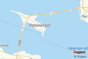 Карта г. Кронштадт Ленинградская область