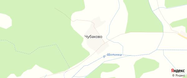 Карта деревни Чубаково в Псковской области с улицами и номерами домов