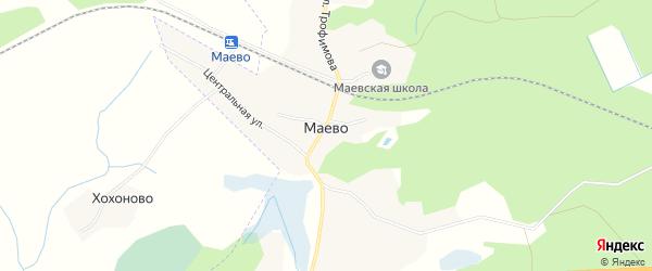 Карта деревни Маево в Псковской области с улицами и номерами домов